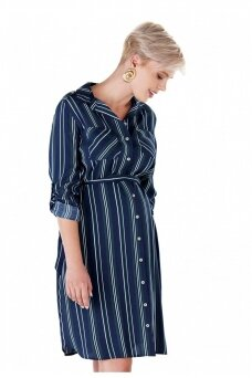 Dryžuota suknelė nėščioms