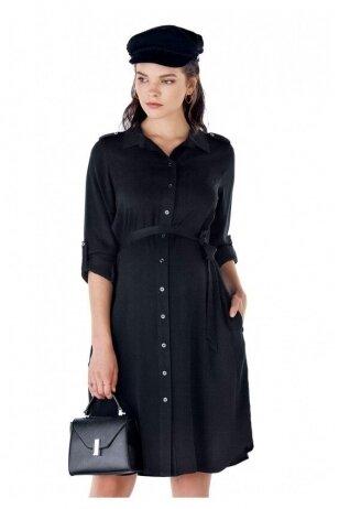 Juoda suknelė nėščioms