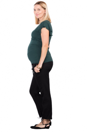 Klasikinės juodos kelnės nėščioms Toledo (juodos)