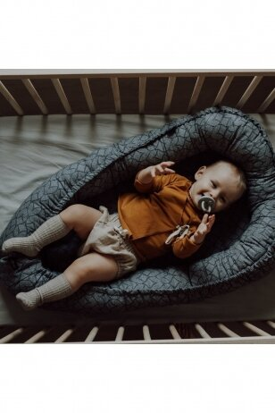 Kūdikio lizdas (tamsiai pilkas)