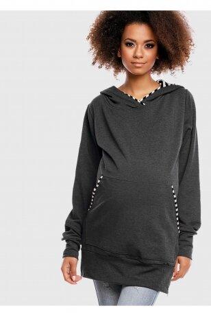 Laisvalaikio džemperis nėštukei Grafitas