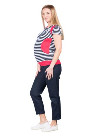 Lininės kelnės nėščioms Torino Navy Bebefield