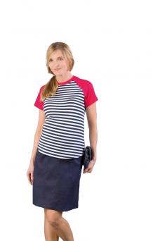 Lininis sijonas nėštukei Lori Navy