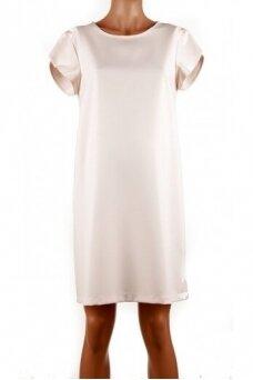 Lygi suknelė nėštukėms (kreminė)