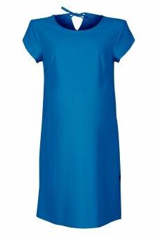 Lygi suknelė nėštukėms (mėlyna)
