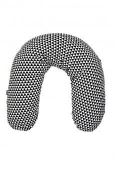 Maitinimo – nėščiosios pagalvė 170 juoda/balta (granulės)