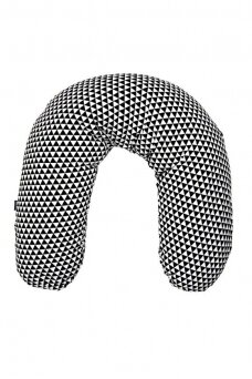 Maitinimo – nėščiosios pagalvė 170 juoda/balta