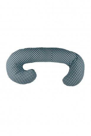 Maitinimo – nėščiosios pagalvė 250 LULULU  Juoda/Mėtinė (Kamšalas)