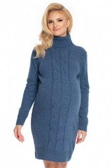 Megzta suknelė nėščiosioms (Mėlyna) PeeKa Boo