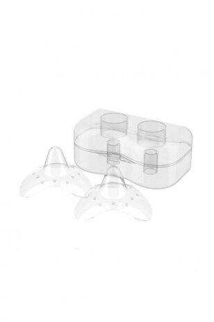 BabyOno silikoniniai antspeniai dėžutėje 2 vnt., S dydis, 823