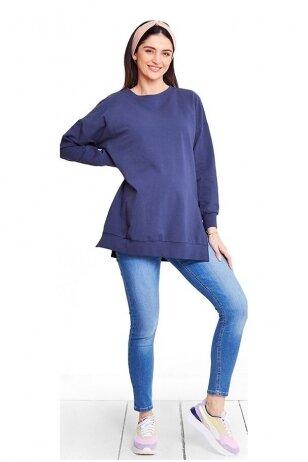Medvilninis džemperis nėščioms ir maitinančioms Dark Blue