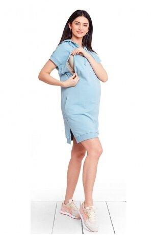 Nėščiosios ir maitinančios suknelė Mimi Baby Blue