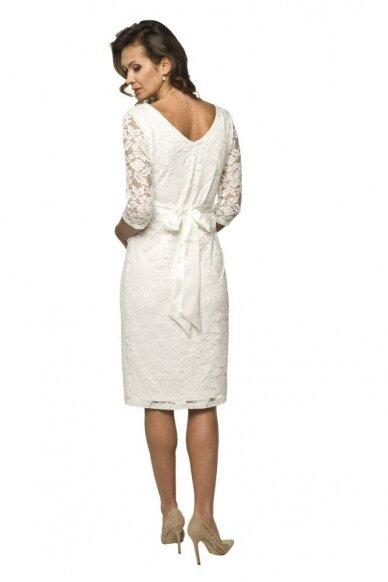 Proginė balta suknelė nėščiai LACE