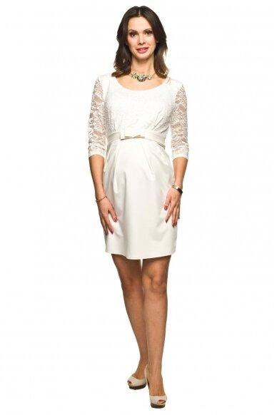 Proginė balta suknelė nėščiai LACE 2