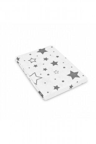 Sensillo didelis vystyklas, medvilninis, žvaigždės 120x120 cm