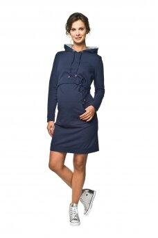 Suknelė nėščioms ir maitinančioms Hoodie (mėlyna)