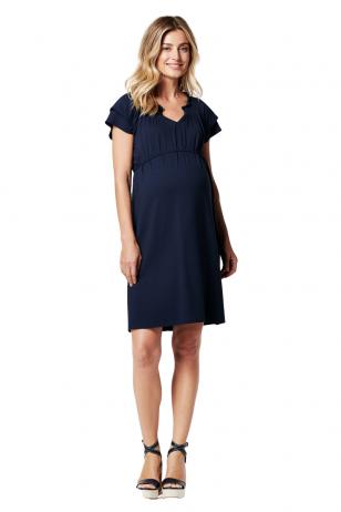 Suknelė nėščioms, tamsiai mėlyna