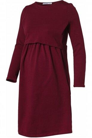 Suknelė nėščioms ir maitinančioms Isla Bebefield Bordo