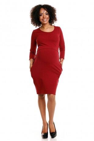 Suknelė nėščiosioms ir maitinančioms (Raudona) PeeKa Boo