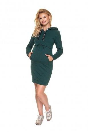 Suknelė nėščiosioms ir maitinančioms PeeKa Boo žalios spalvos