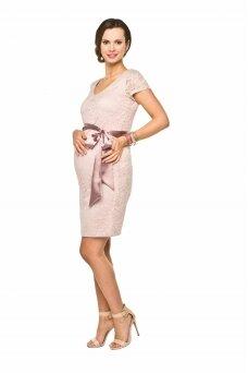 Šventinė suknelė nėščioms Lace (šviesi rožinė)