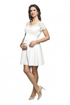 Šventinė suknelė nėščioms Santia (kreminė)