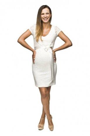 Šventinė suknelė nėščioms Lace (balta)