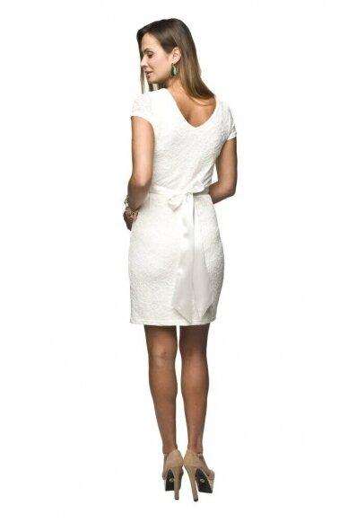 Šventinė suknelė nėščioms Lace (balta) 2