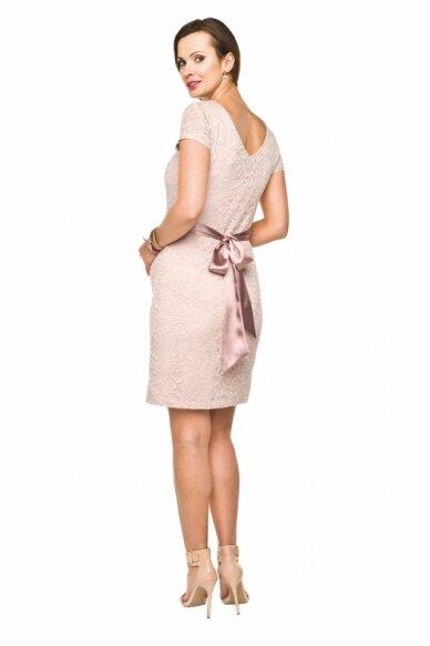 Šventinė suknelė nėščioms Lace (šviesi rožinė) 2