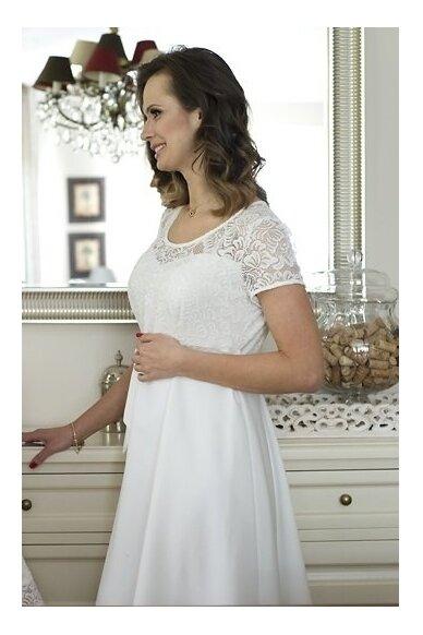 Šventinė suknelė nėščioms Santia (kreminė) 2