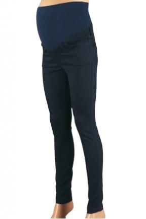Elastini tamsiai mėlyni džinsai nėščioms