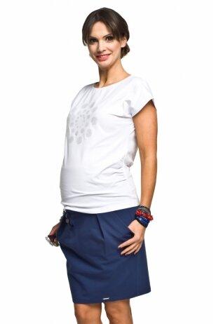 Trikotažinis nėščiųjų sijonas Swing (mėlyna)