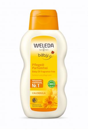 WELEDA vaikiškas bekvapis kūno aliejus su medetkų ekstraktu CALENDULA BABY 200 ml