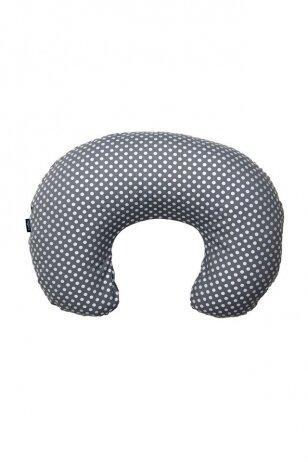 Žindymo pagalvė 140 Exclusive sidabrinė su rutuliukais